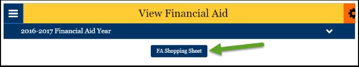 FA shopping sheet button