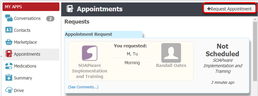 2.  Request an Appointment
