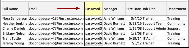 Voir Exemple de fichier CSV