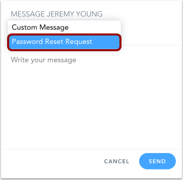 Select Message Type