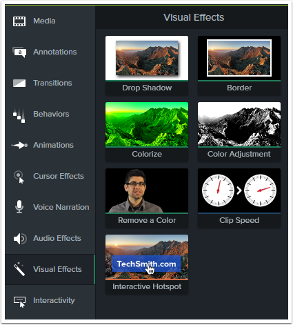 Visual effect tools