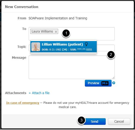 3. Add Recipients to a New Conversation
