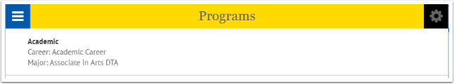 Programs page