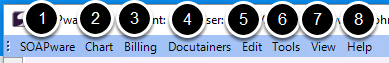 Primary Toolbar - Menu