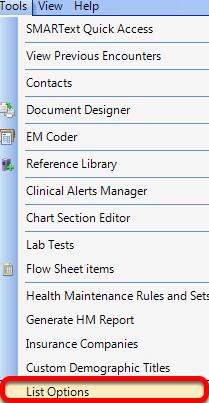 Tools - List Options
