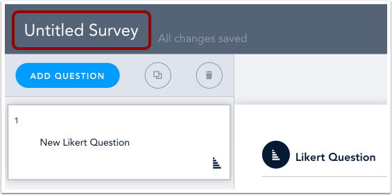 Add Survey Title