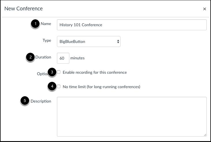 Ajouter des informations sur la conférence