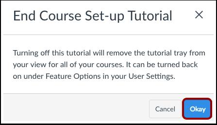Finalizar el tutorial de configuración del curso