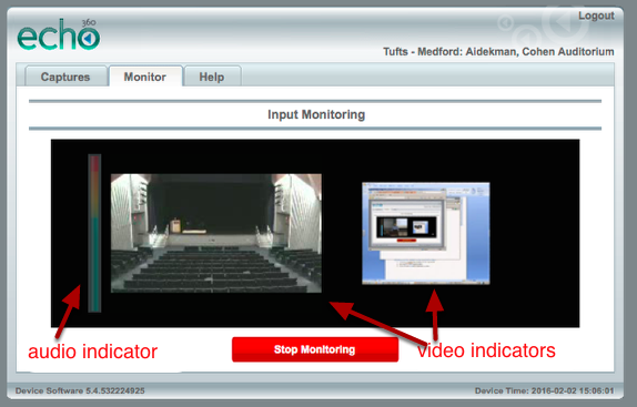 Check that your audio and video inputs are working correctly.