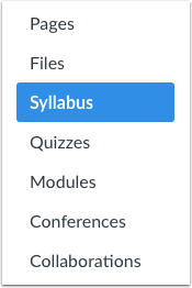 Syllabus openen