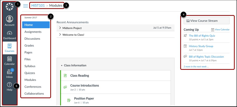 Canvas-interface bekijken