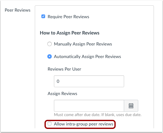 Peerbeoordelingen binnen groepen als groepsopdracht toewijzen