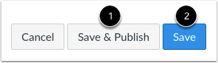 Save and Publish Assignment