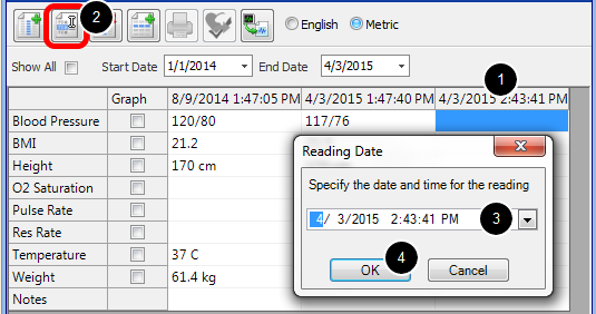 Edit a Reading Date