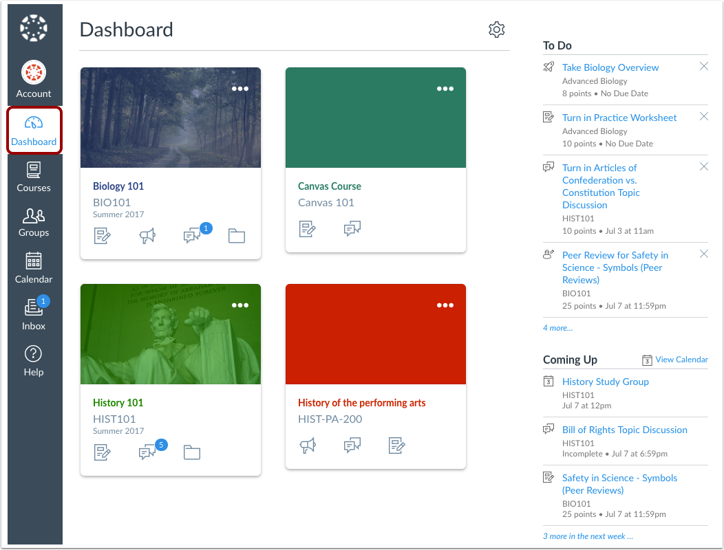 View Dashboard
