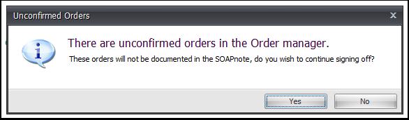 Unconfirmed Orders