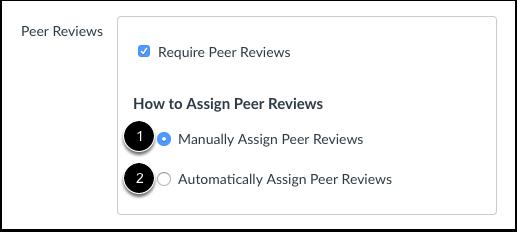 Peerbeoordelingen toewijzen