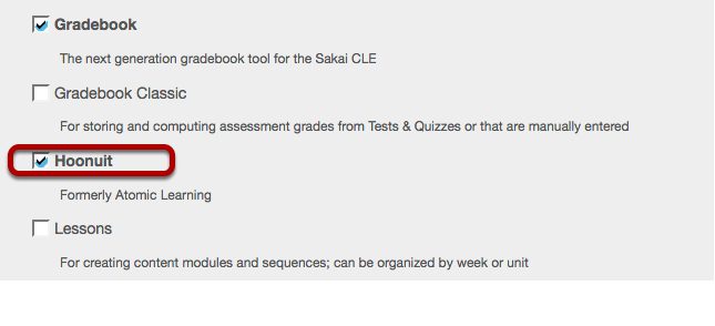 Select the Atomic Learning tool.