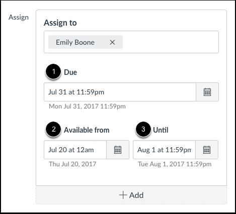 Modifier les dates d'échéance et de disponiblité