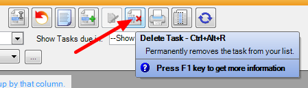 Deleting a Task