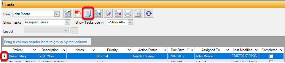 Review Task Items