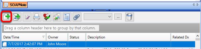 Create a New SOAPnote Document