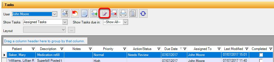 Provider Signs Off Task Item