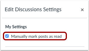 Manually Mark Posts as Read