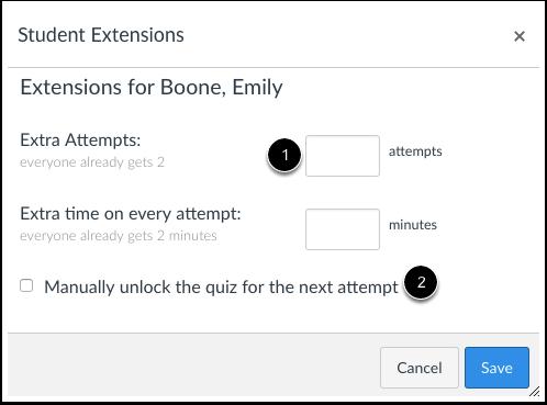 Brindar extensiones para los alumnos