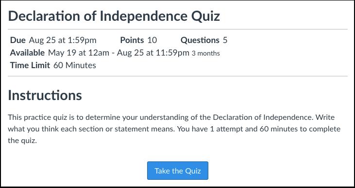 Tag Quiz