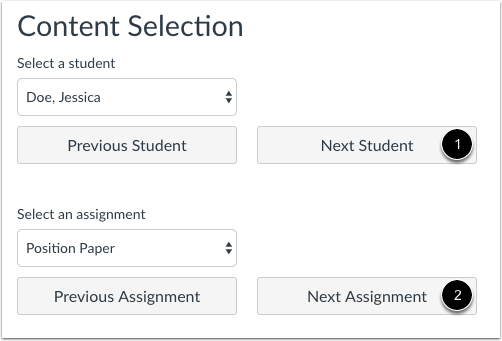 View Next Student or Assignment