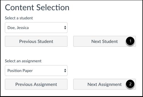 Vis neste student eller oppgave