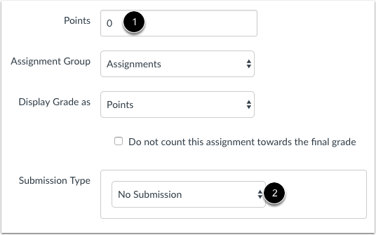 Create New Assignment with No Submission
