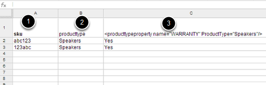 Importing Product Properties