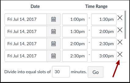 Modificar horas de las citas