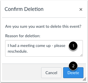 Confirm Deletion
