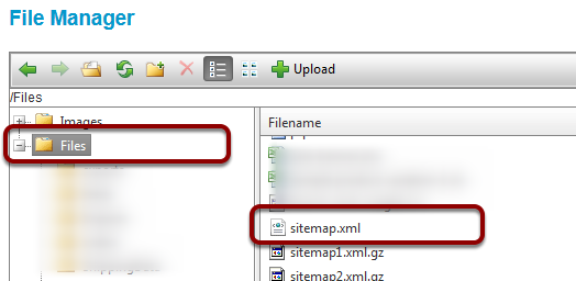 Where is my Sitemap located?
