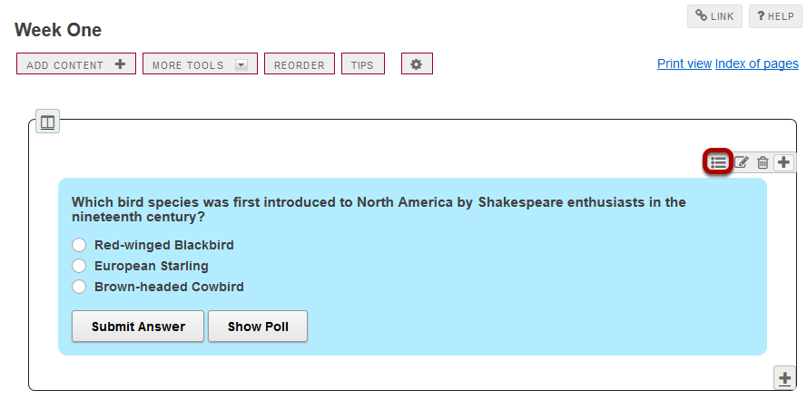 To see student responses, click Show Grading Pane.