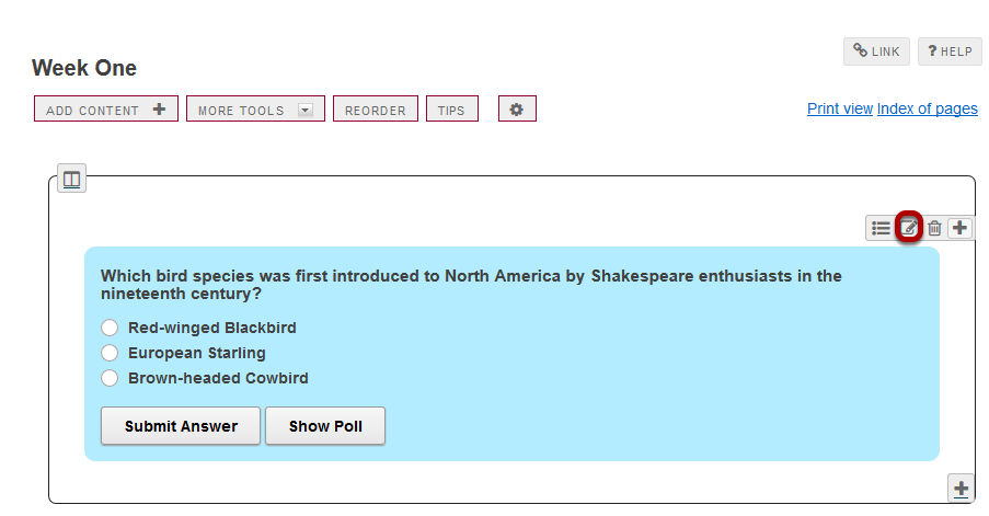 To make changes to the question, click Edit. (Optional)