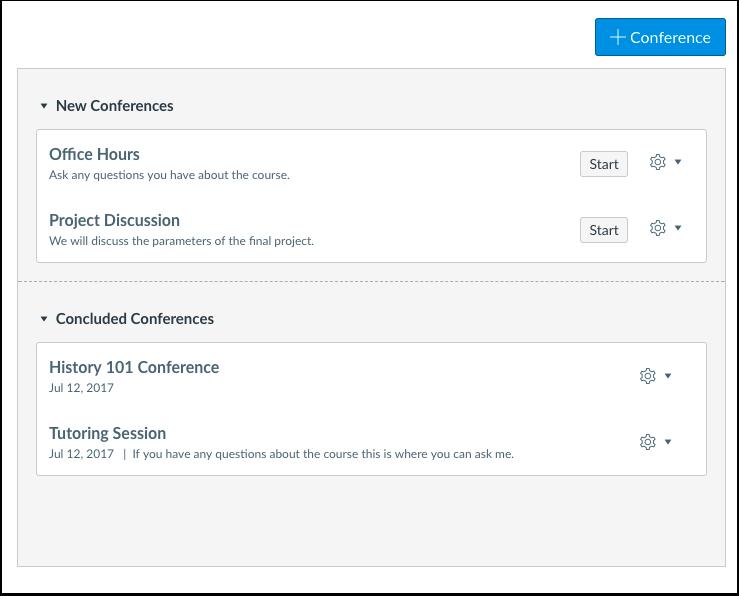 ¿Cuándo utilizaría las Conferencias como instructor?