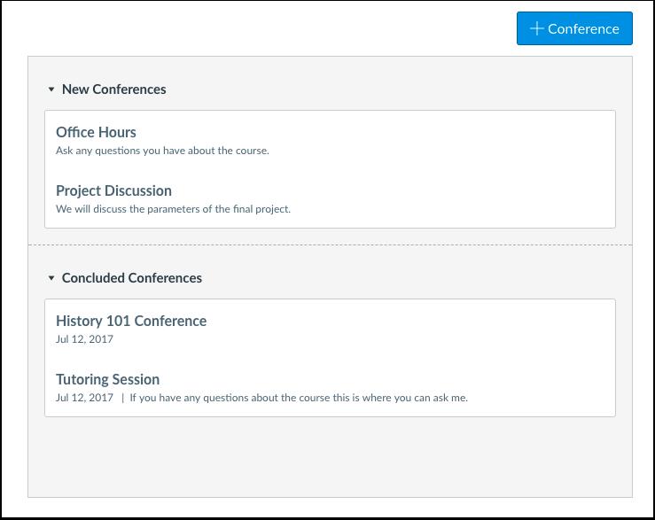 ¿Cuándo utilizaría las Conferencias como alumno?