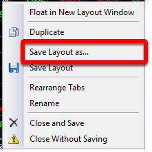 2. Select Save Layout Tab as...