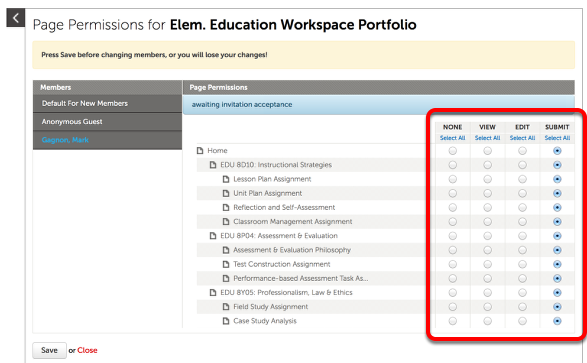 Step 4: Adjust New Member Portfolio Permissions (If Needed)