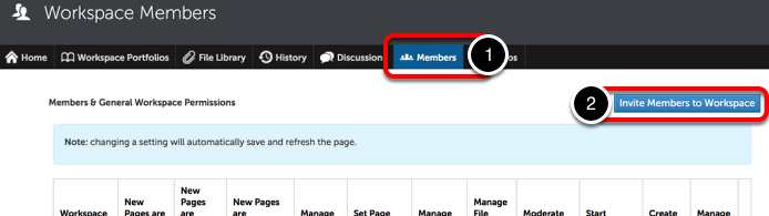 Step 1: Invite Members to Workspace