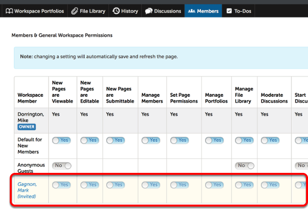 Step 3: Adjust New Member Workspace Permissions (If Needed)