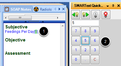 Use the Number Picker SMARText Item