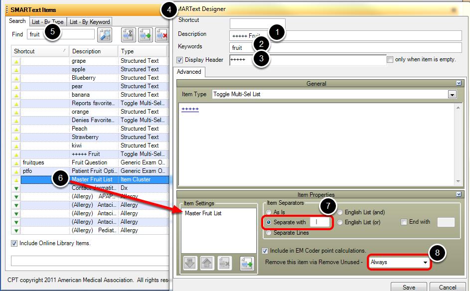 SMARText Designer: SMARTips Toggle Multi-Sel List