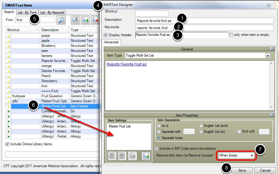SMARText Designer: Toggle Multi-Sel List