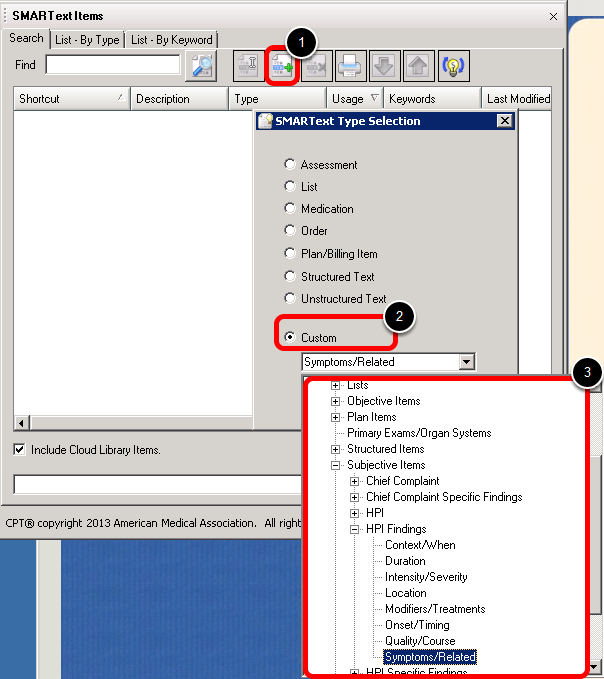 Create the HPI Finding Item