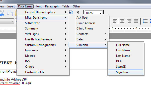 Placing Signatures in a Document Design